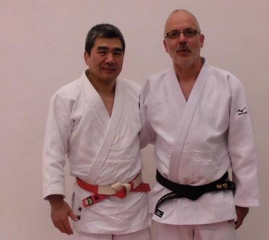 Kata-Experte Yoshihiko Iura und Hartmut Schrage