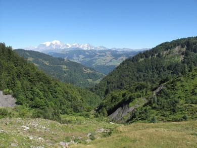 au fond, le Mt Blanc