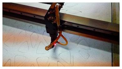 Плафон изготовлен методом лазерной резки
