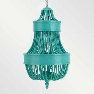 Turquoise chandelier Shine by S.H.O.