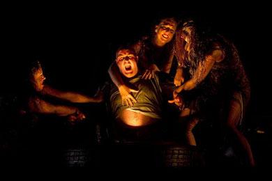 El oro, Alberich y las hijas del Rin. Foto de EFE
