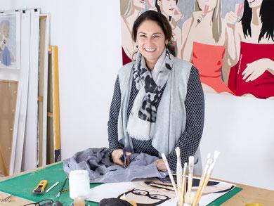 Die Stoffkünstlerin Ursula Niehaus