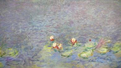 クロード・モネ「睡蓮 朝(部分)」1916-26年、オランジェリー美術館