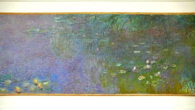 クロード・モネ「睡蓮 朝、柳(部分)」1916-26年、オランジェリー美術館
