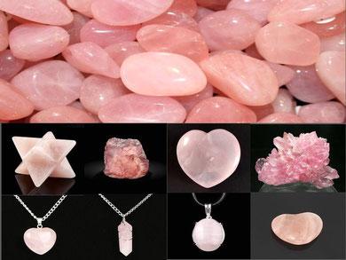 Quartz Rose - Boutique minéraux - Lithothérapie - Casa bien-être