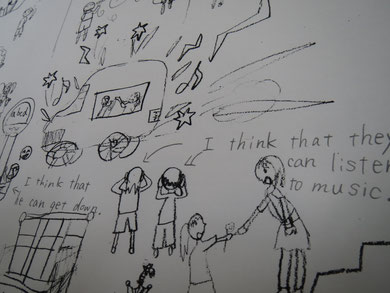 I think that he can get down. I think that they can listen to music. アブクドゥ生徒さんの作文遊びの一例。文法をしっかりおさえ、自力で文が作れるように導きます。言えることは、もちろん書けるように指導します。書くと間違いが明白になり、なおす体験を通して、理路整然と覚えていきます。「言えること」=会話力となっていきます。