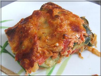 recette gratin courgette tomate