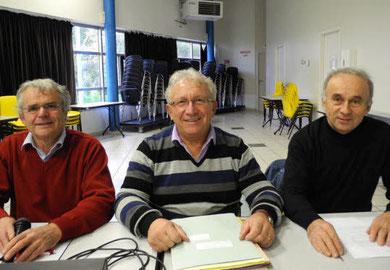 De gauche à droite, Robert Ogor (président), Alain Verdeaux (trésorier) et Georges Durand (secrétaire).