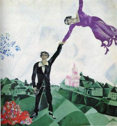Marc Chagall - La passeggiata, 1917/18, Olio su tela