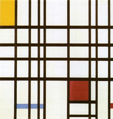 Piet Mondrian - Composition with Red, Yellow and Blue, Oil on canvas
