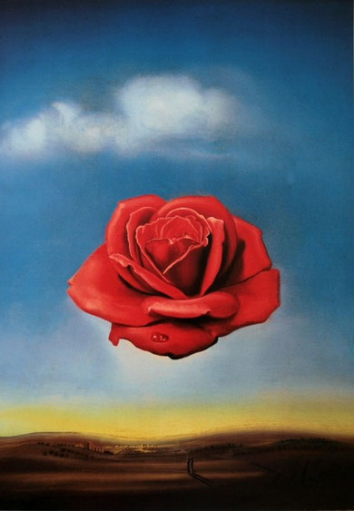 Salvador Dali - The Meditative Rose, 1958