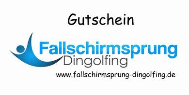 Tandem Fallschirmsprung in Bayern. Gutschein zum Tandemsprung online kaufen