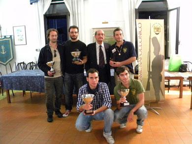 """Il Presidente della sezione U.N.U.C.I. Gaeta sud-pontino ha premiato il """"Valoroso"""": Andrea Magnani (Brescia)"""
