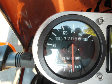 Laut Tachostand hab ich 1350 km zurück gelegt