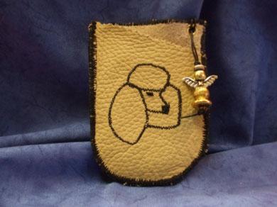 Artikel: Leder-Handy Nr. 1 mit  Schutzengel
