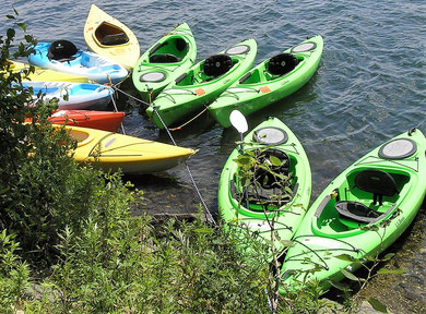 single and tandem kayaks