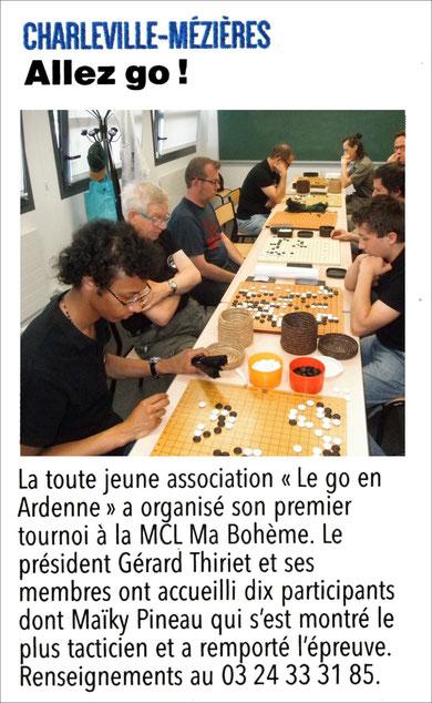 Article paru dans l'Ardennais du 27 juin 2017