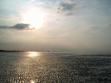 Blick Richtung Cuxhaven