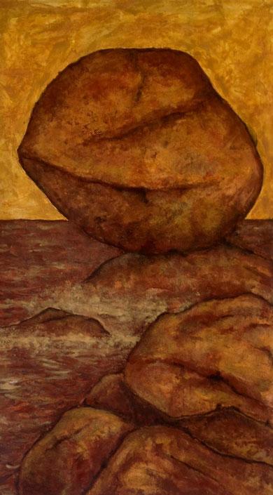 impressionisme, pigments minéraux et liants acryliques sur papier, 90*140