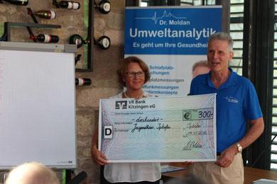 Übereichung einer Spende an das Jugendhaus in Iphofen