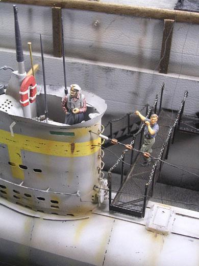 Der U-Boot-Kommandant von Verlinden (einfach toll), Laufgangbrücke scratch gebaut