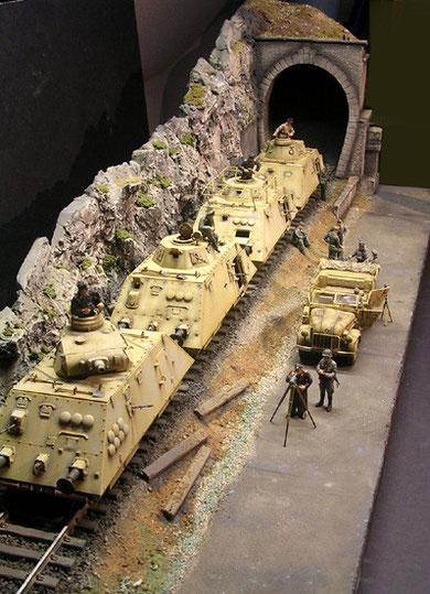 Größe des Dioramas circa 100cm Länge