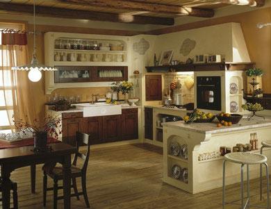cucina in muratura in multisrato