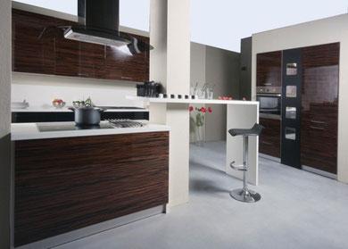 cucina in multistrato precomposto ebano opaco