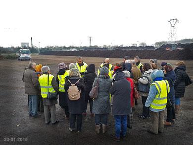 Visite centre de compostage de Périgny 23-01-2015