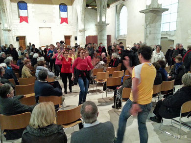 Flash mob à la galette le 21-01-2016