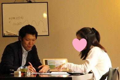 マネー関係の講座は初めてのIさま。レッスンが進むにつれて興味が広がってきたご様子。