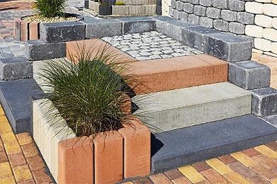 Blockstufen für Gärten