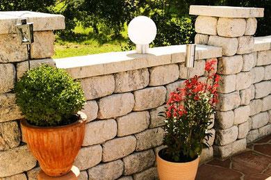 Secco-Bruchstein Gartenmauer