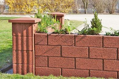 VulkaPlano Gartenmauer