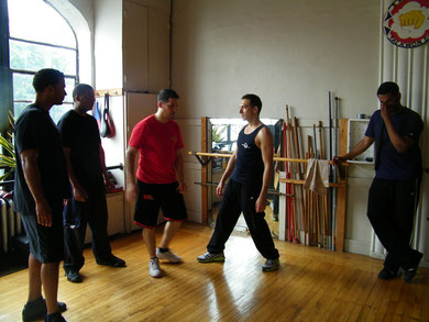 Si Hing Gabriel entrenando en Nueva York con SiFu Edgar Rotger