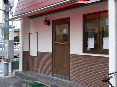 木製玄関ドア 店舗 施工例 パティスリー