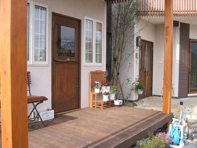 木製玄関ドア 店舗 施工例 建築事務所