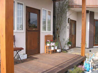 店舗 木製玄関ドア