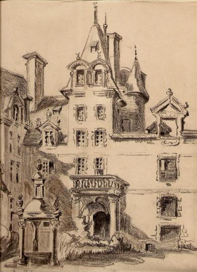 Le Chateau de Kerjean à Saint Vougay en Bretagne.