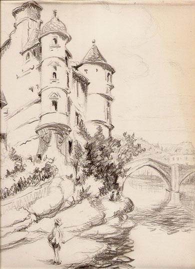 Le chateau de l'Espalion dans ll'Aveyron.