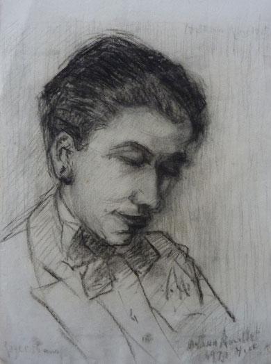 Esquisse de son fils à l'âge de 18 ans à Nice