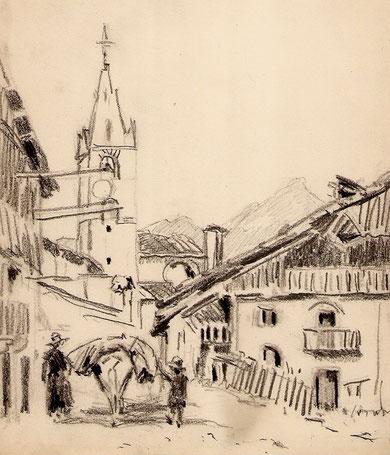 Eglise de Ristolas dans le Queyras.