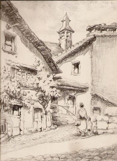 Village, sans doute Pyrénéen.