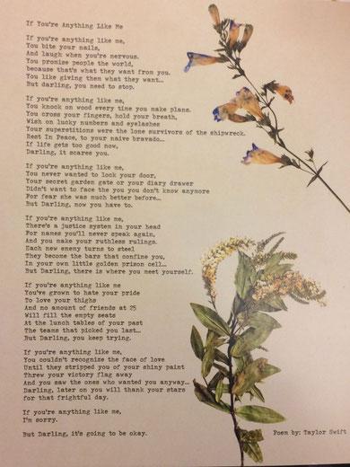 Poems - Taylor Swift Switzerland