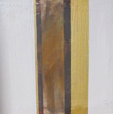 Nr. 2010-HO-009: 60 x 60 cm, Acryl, Strukturmasse, Rosteffekt auf MDF