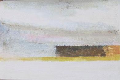 Nr. 2010-HO-008: 40 x 60  cm, Reibeputz, Rost, Acryl auf Leinwand