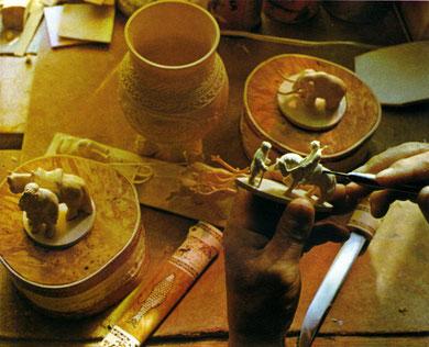 мастерская якутского костореза