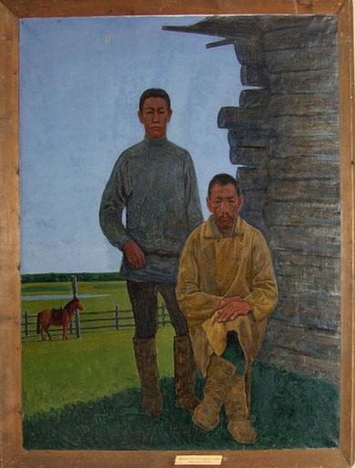 А. Софронов с отцом
