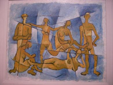 Tempera, Lw.  46 x 60 cm. 1988.