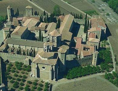 Monasterio de Poblet,Tarragona, vista general